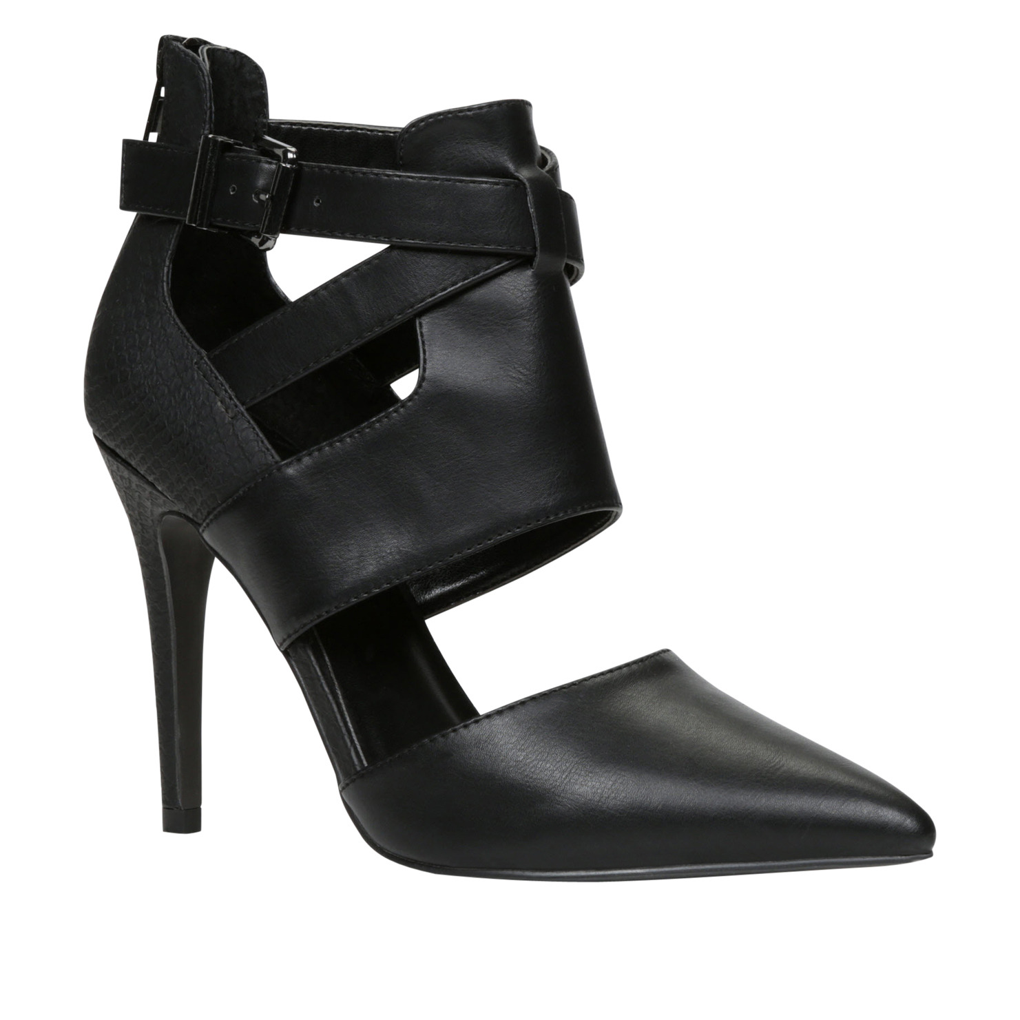 bcdc28018b Available in classic black and chic bone, the towering 11cm heel, cut out  detailing and chunky, adjustable strap with back detail pack a punch from  all ...