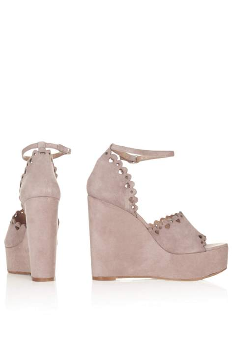 Topshop Tan High Heel Wedges
