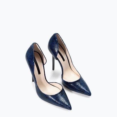 Zara Snakeskin Leather High Heels