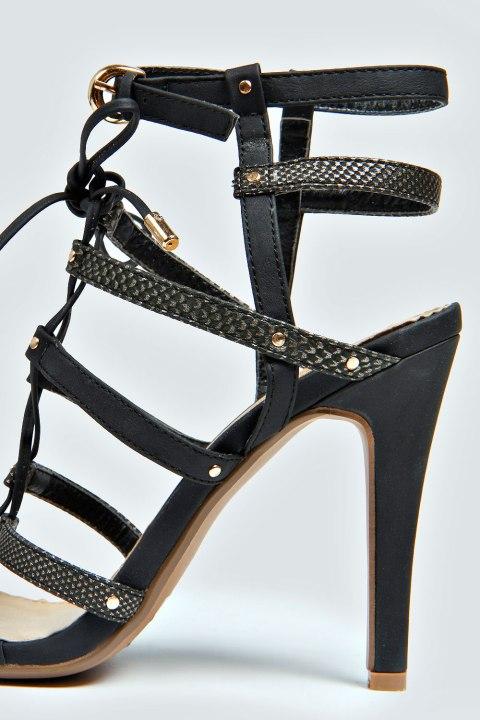 Macioe high heel black sandals