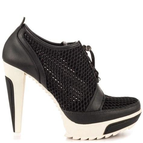 black sneaker high heels