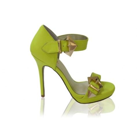 Izoa green high heels