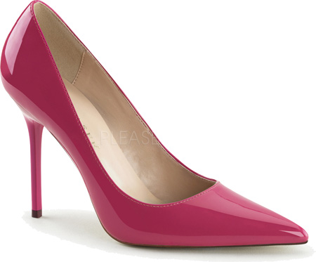 pleaser pink pumps