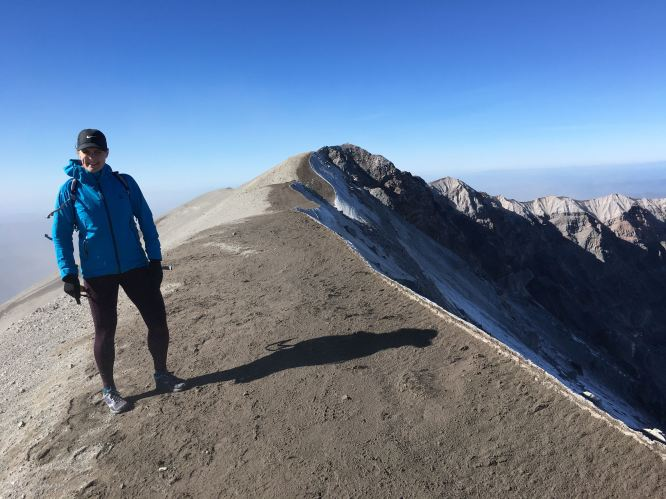 On top of the world at mount st helens