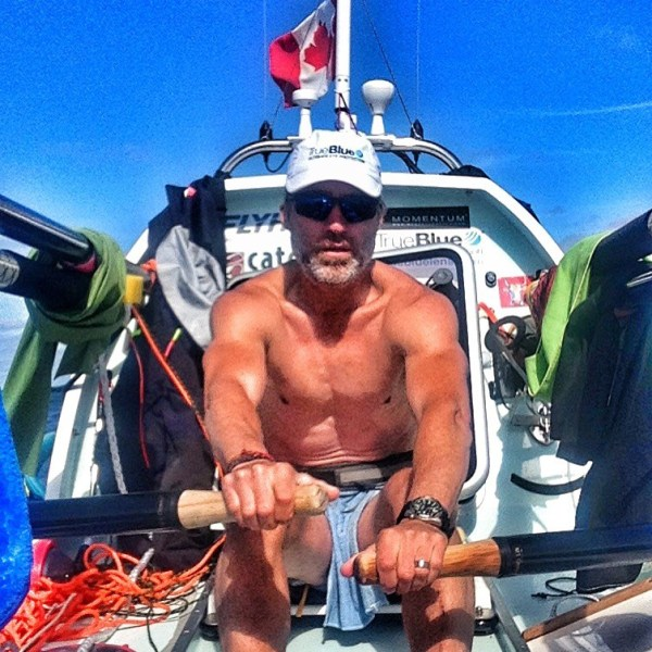Laval St. Germain solo-rowing across the North Atlantic