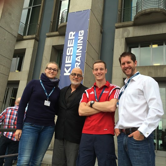 Dr James Fisher and Dr James Steele with Werner Kieser and colleague