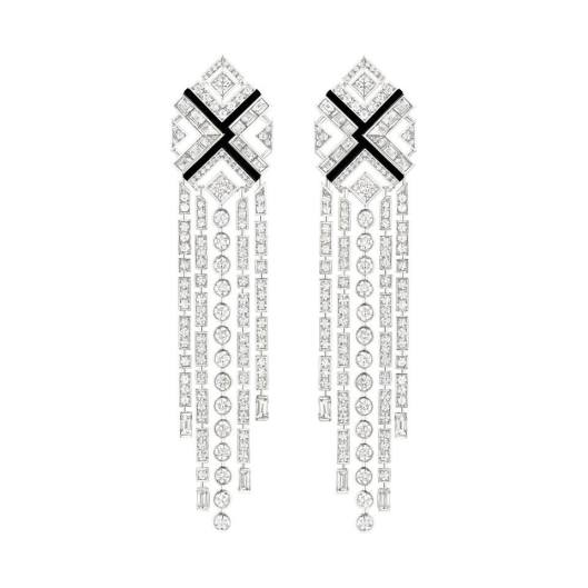 Chanel Café Society Charleston earrings.