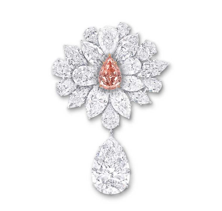 Graff Diamond Flower Brooch