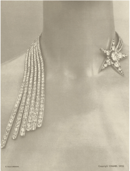 The original Shooting Star Necklace designed by Mlle Chanel in 1932.