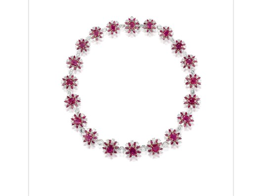 Burmese ruby necklace 2.001