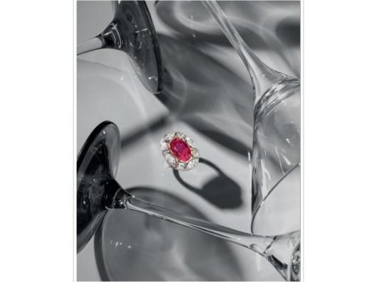 A MAGNIFICENT RUBY AND DIAMOND 'GEORGINA' RING, BY MARINA B.