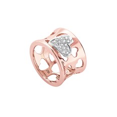 Salvini Segni ring, in pink gold with diamonds.