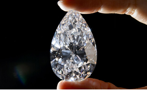 101.73 carats Pear-shape, D color, Flawless Sold for US$26.7 million / US$262,830 per carat Christie's Geneva, 2013