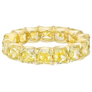 Betteridge Fancy Intense Yellow Diamond Gold Eternity Band