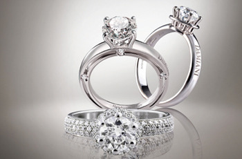 Damiani Minou, D.Side and Minou Full Pavé solitaire rings.