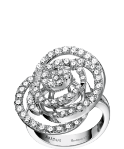 Damiani Rose white gold and diamond ring (ct 1,43).