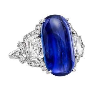 Raymond C. Yard 10.81 Carat Sapphire Diamond Ring