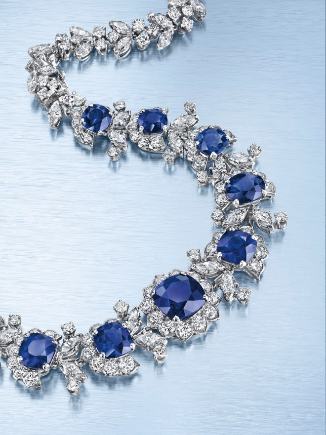 A sapphire and diamond necklace, by Van Cleef & Arpels. Estimate $300,000 - 500,000.