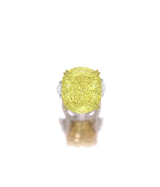 77.77-ct Fancy Vivid Yellow Diamond and Diamond Ring_RGB (2)