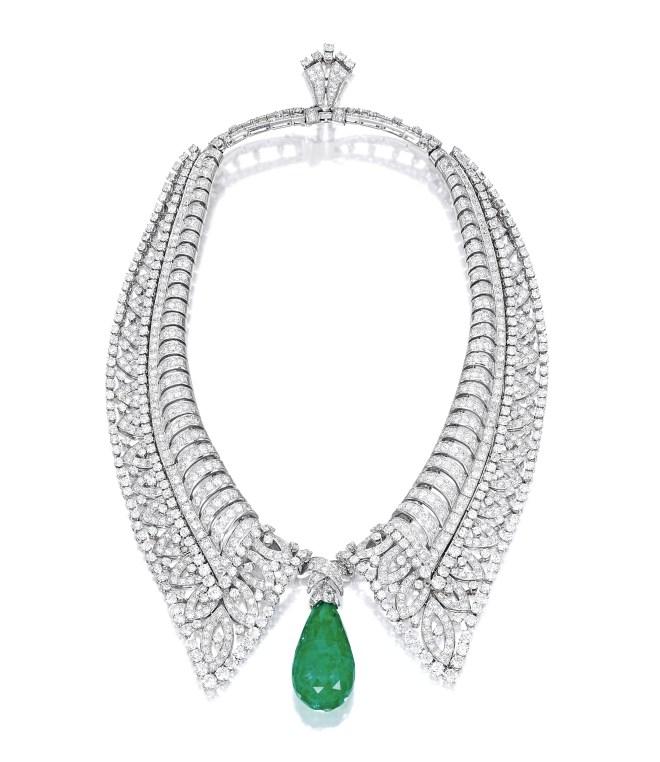 Boucheron 65.33-ct Colombian Emerald and Diamond Necklace, circa 1930s_RGB