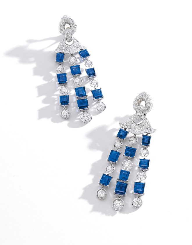 Marina B 38.56 ct Kashmir Sapphire and Diamond Pendent Earrings_RGB