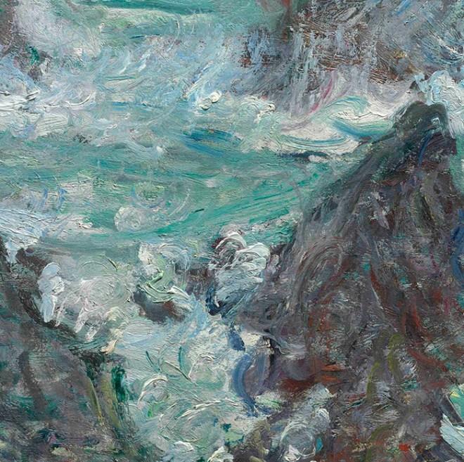 Monet's Tempete sur les Cotes de Belle-Ille.