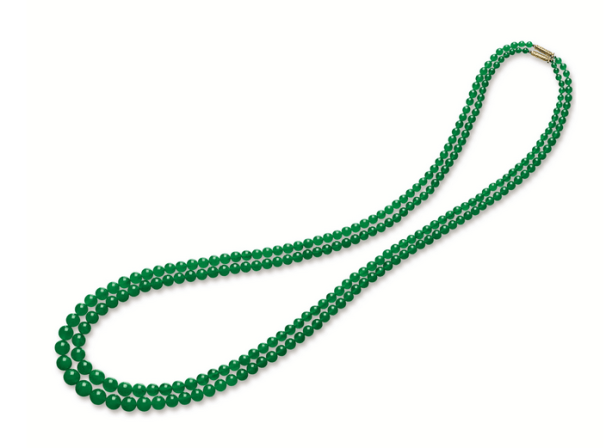 A set of two jadeite bead necklaces from the Republican period.