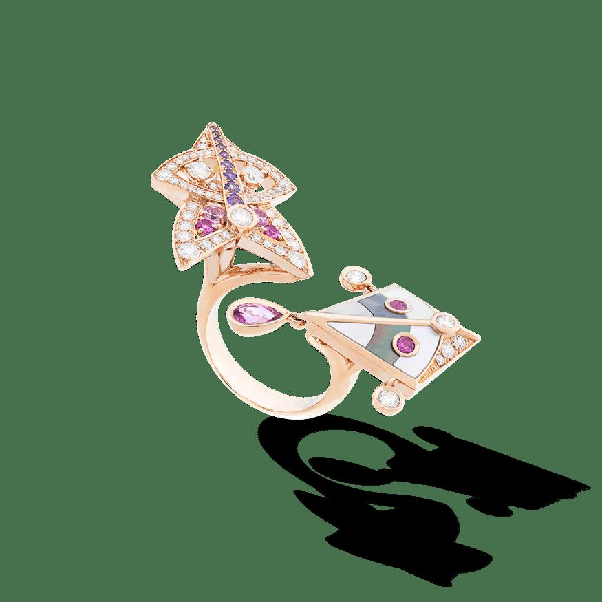 Cerfs-Volants 2 motif Between Finger ring.