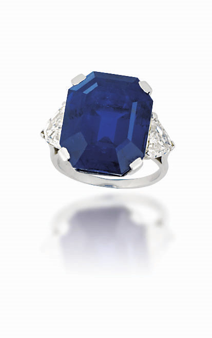 A single-stone sapphire ring. Estimate: £200,000 - 300,000