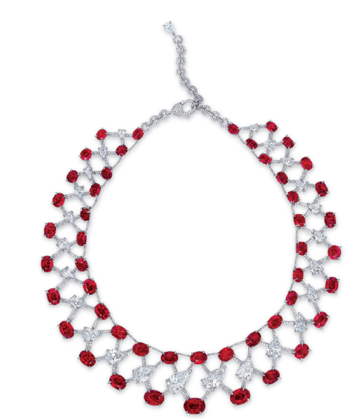 A magnificent ruby and diamond necklace, by Etcetera.