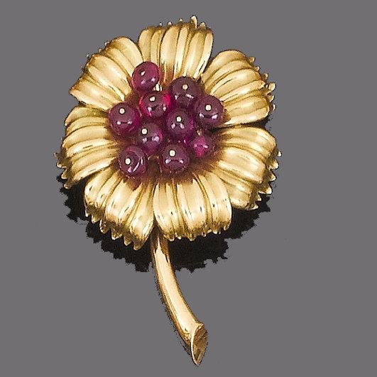 Cartier Ruby Brooch