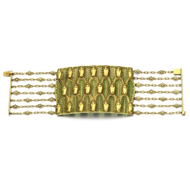 Gold and Enamel Bracelet, (Lot 248, est. £22,000–32,000/ €30,900–44,900/ US$ 32,900-47,900)