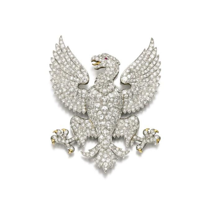 Diamond Brooch, (Lot 40, est. £10,000–15,000/ €14,100–21,100/ US$ 15,000–22,500)