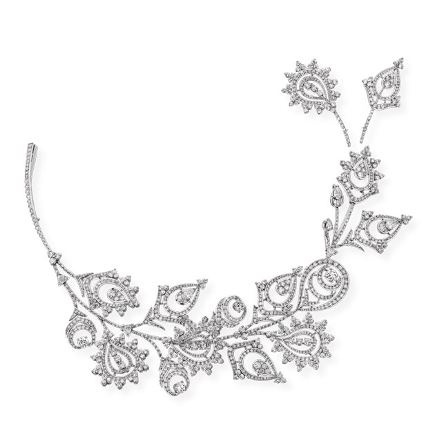Boucheron, Menhdi Necklace. Bleu de Jodhpur High Jewellery Collection.