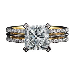 Vows by Alexandra Mor Radiant Cut Diamond Ring