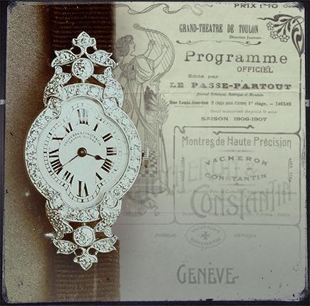 1916 ladies wristwatch - Heure Romantique inspiration.
