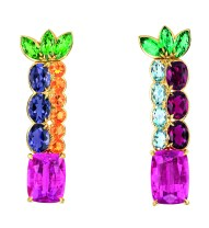 Granville Tourmaline Rose Earrings