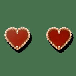 Sweet Alhambra Heart Stud Earrings