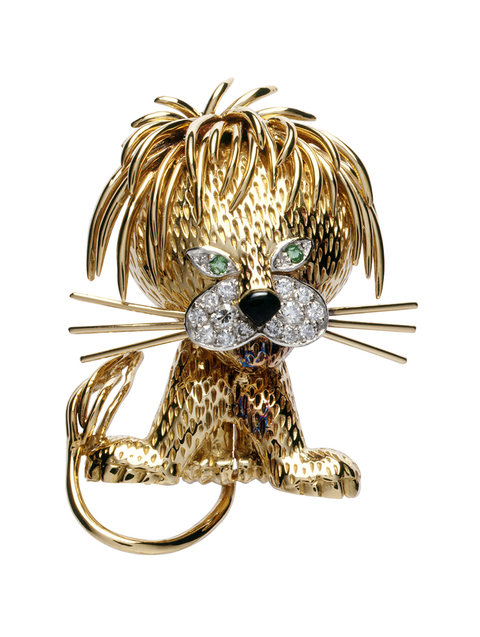 Van Cleef & Arpels. From 'La Boutique' animal clips, the 'Le Lion Ebouriffé' clip, 1962