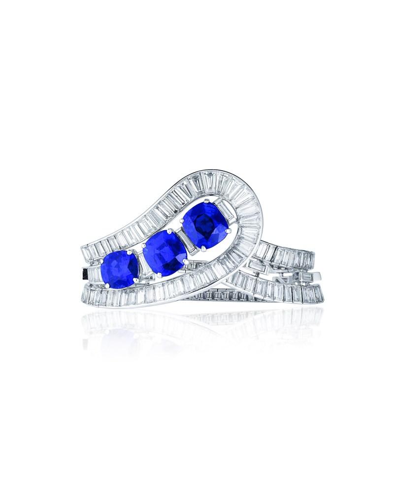sapphire bracelet van cleef and arpels christies