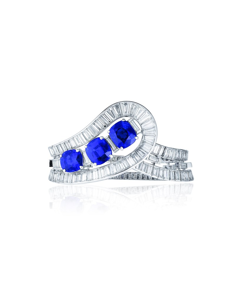 sapphire bracelet van cleef and arpels christies