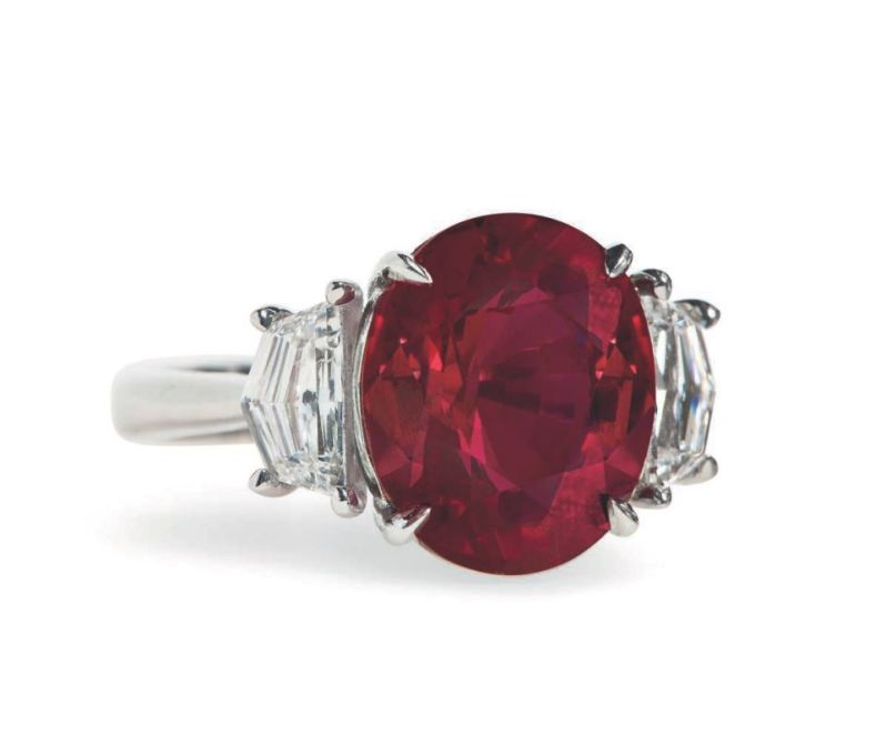 Burmese ruby and diamond ring christies