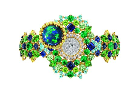 CAPTIVANTE OPAL HIGH JEWELLERY TIMEPIECE open