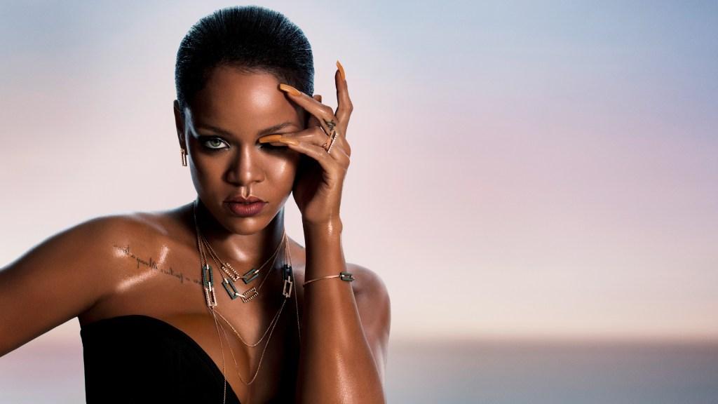 Rihanna wearing the RIHANNA ♥ CHOPARD Joaillerie collection
