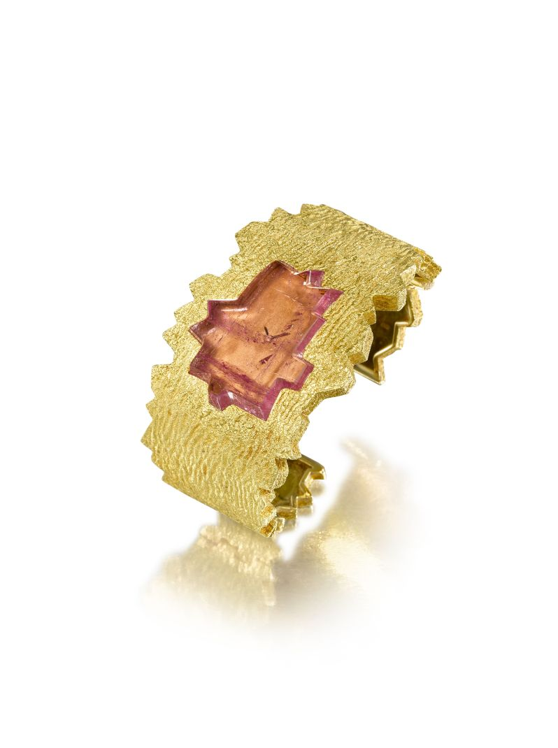 About Time tourmaline watch by Andrew Grima