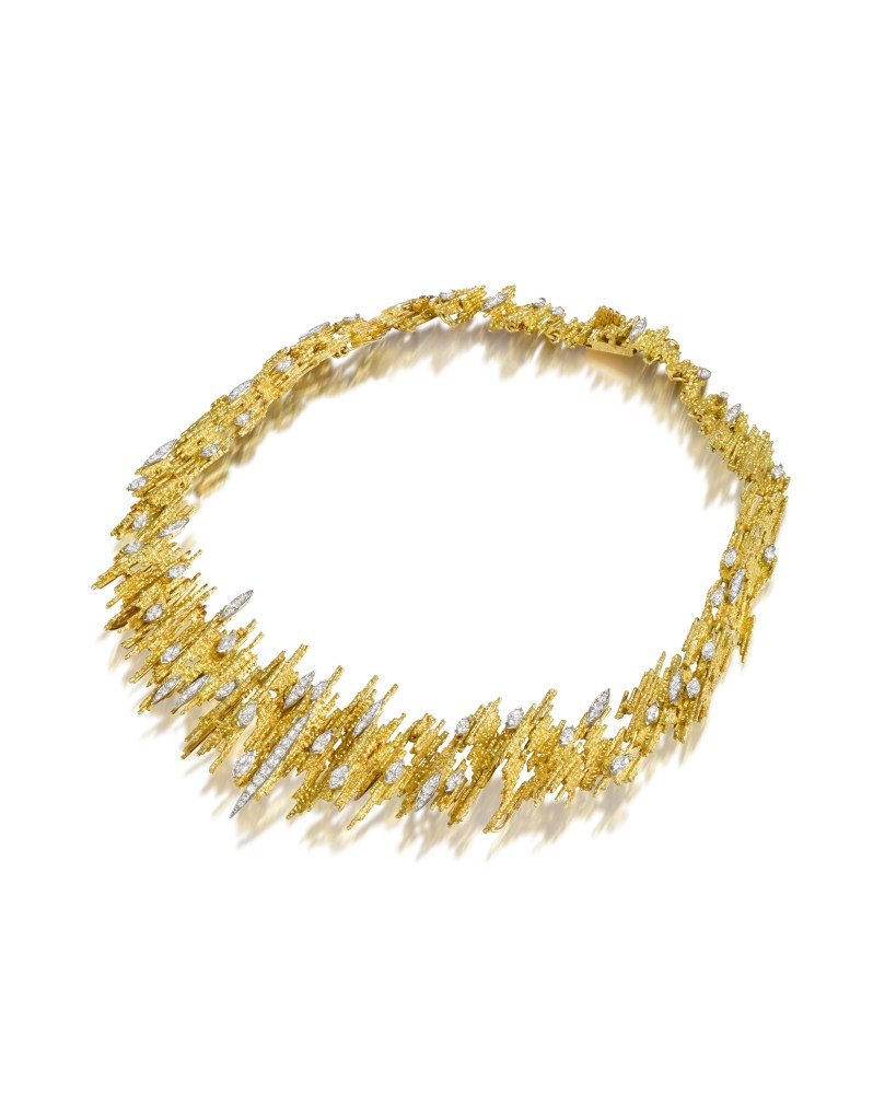 Gold and diamond necklace by Andrew Grima