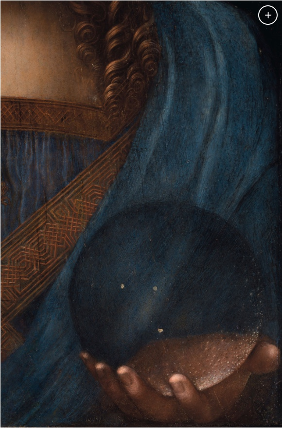 Leonardo da Vinci, Salvator Mundi, detail of the orb