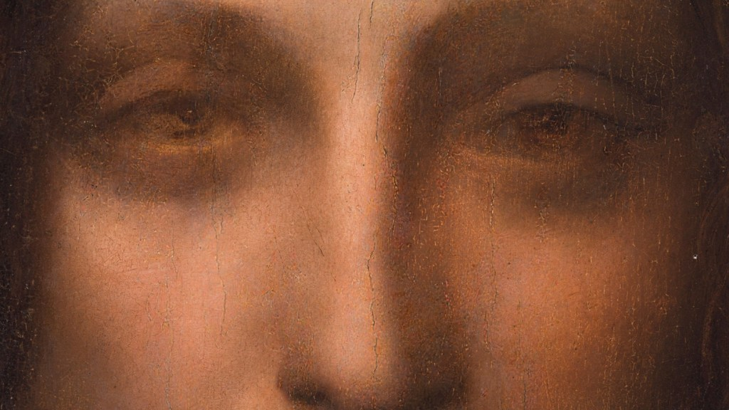Salvator Mundi - close up eyes