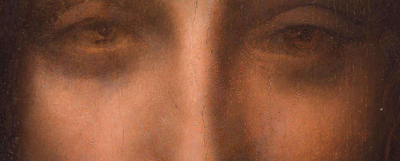 Salvator Mundi - close up eyes