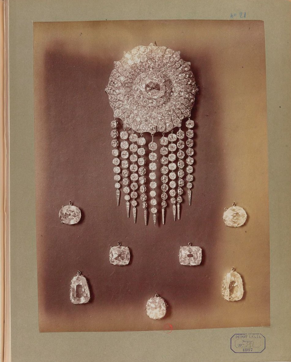 auction catalogue french crown jewels 1887 photo by berthaud